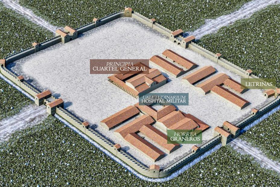 Mapa reconstruido Aquis querquennis