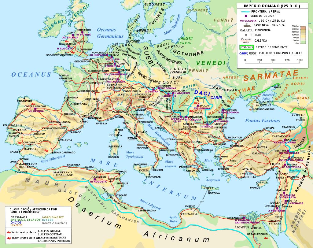 Red viaria oficial Romana