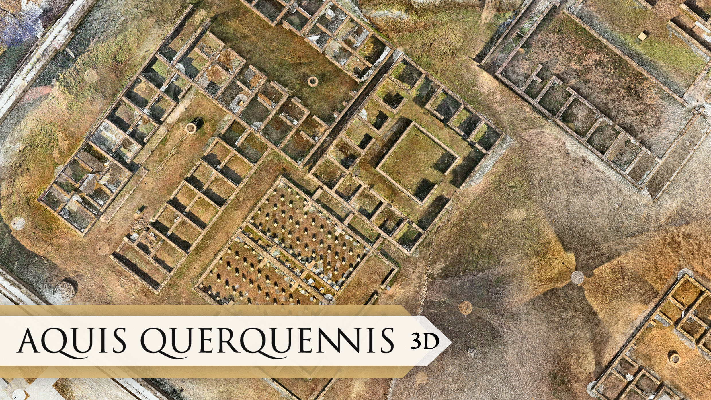 Point cloud of one of the Aquis Querquennis areas obtained after laser scanning of the complex.