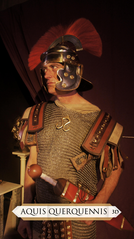 Recreação de Legionario e Centurião Romano – Aquis Querquennis 3D – Making Off
