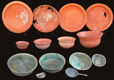 Exemplos de cerámicas romanas.