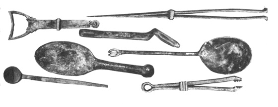 Medicinal instruments used in Roman times